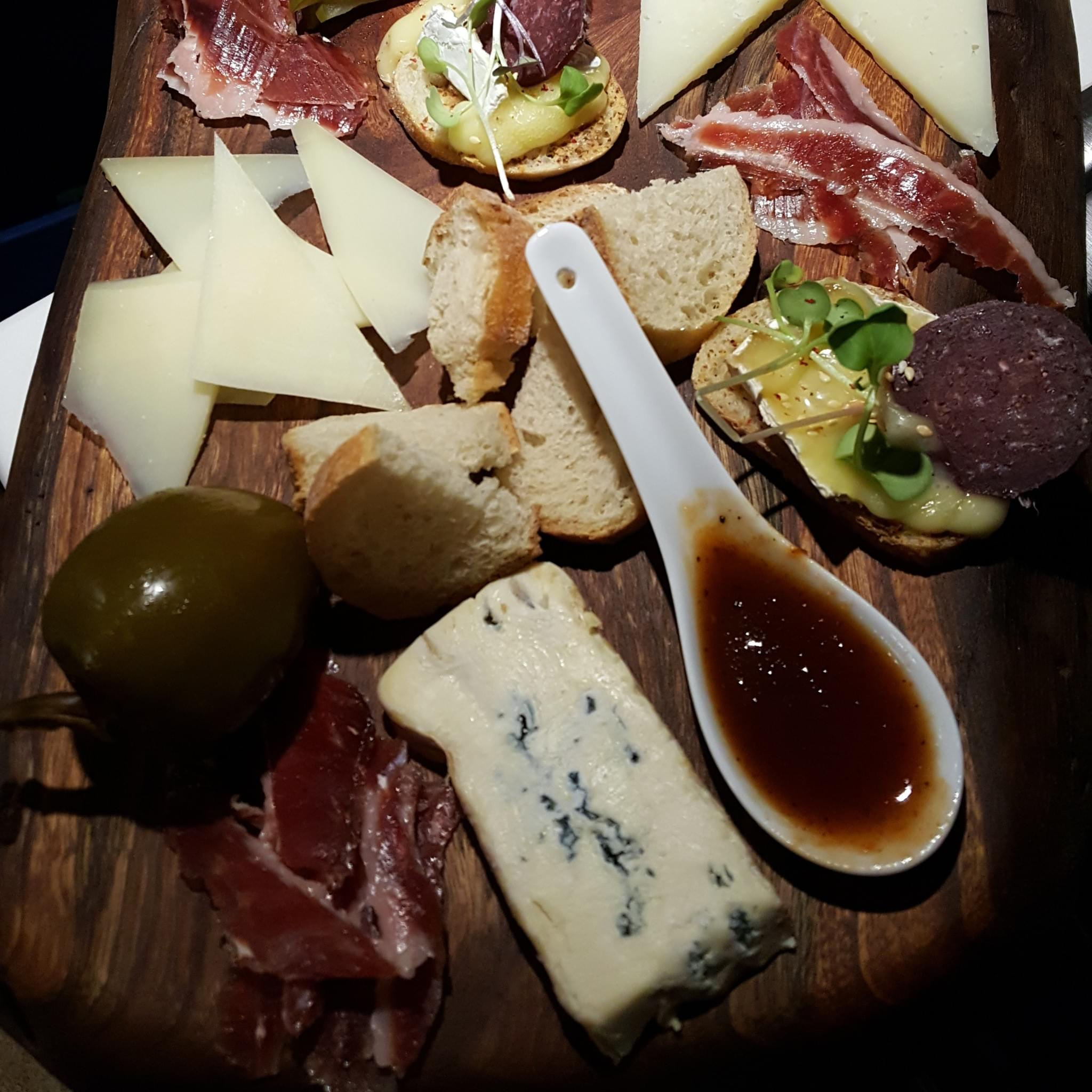 French Cow cheese/charcuterie board!