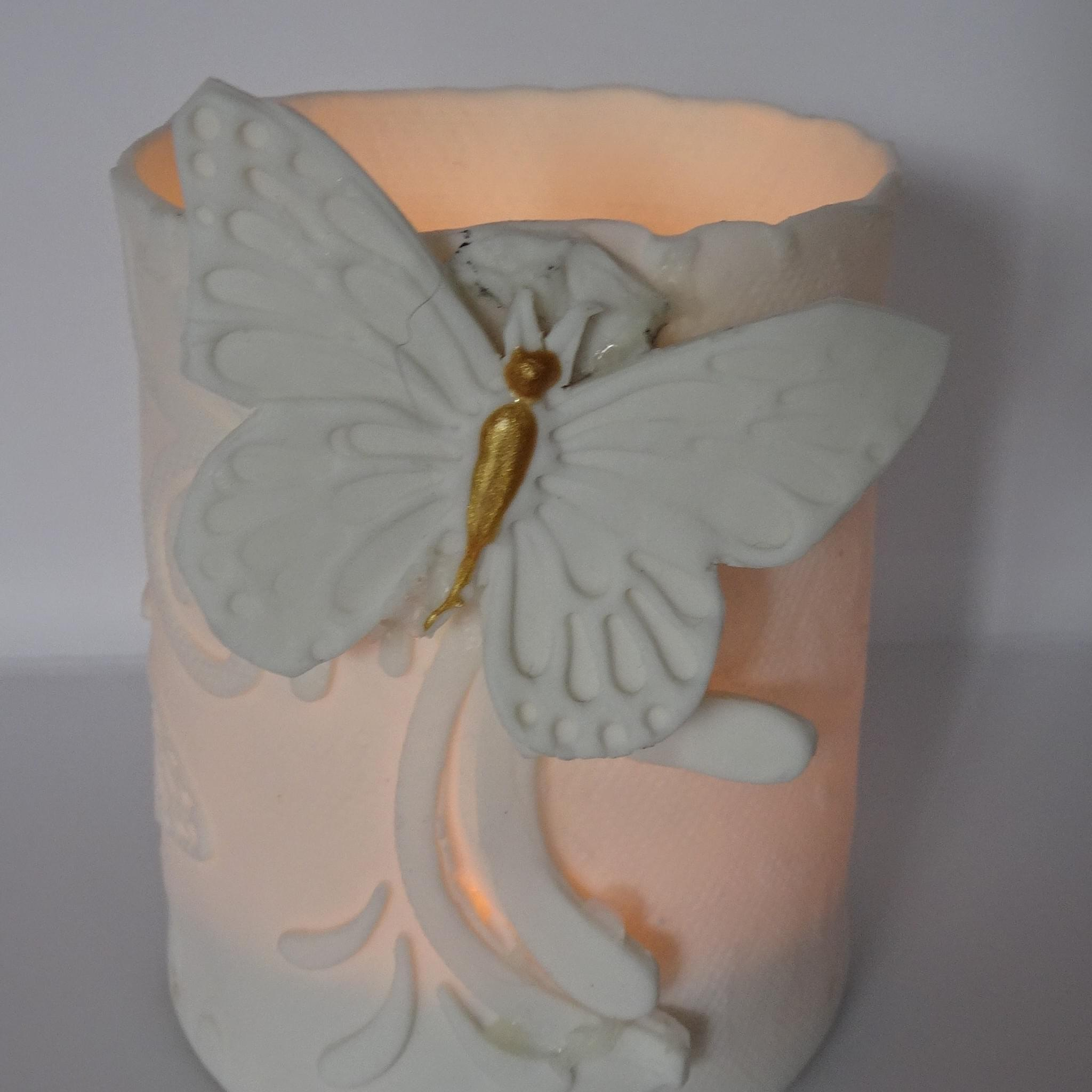 Handmade porcelain candle holder/trinket holder