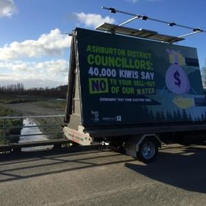 That time we crowdfunded a billboard on the back of a truck and drove it around Ashburton