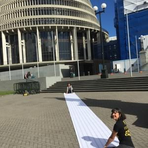 That time we delivered a 10m long petition to Parliament signed by more than 72,000 people opposed to TPPA