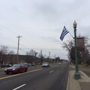 Market Street Greek Flag Flag Raising