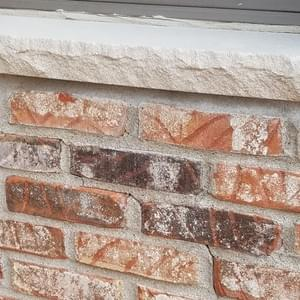 New Brick on side of home