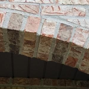 Exterior arched brick install and repair