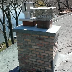 Fireplace Rebuild On Roof