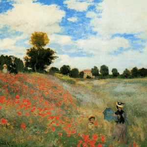 SEPTEMBER 10th, MONET, THE POPPY FIELD NEAR ARGENTEUIL 1873