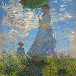 APRIL 9th, MONET, MADAME MONET AND HER SON, 1875