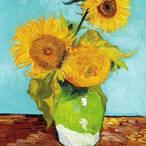 MAY 14th, VAN GOGH, VASE WITH THREE SUNFLOWERS, 1888