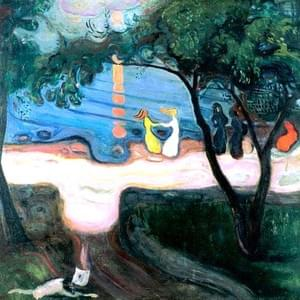FEBRUARY 12th, MUNCH, DANCE ON THE SHORE, 1900