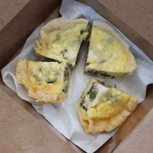 The Red Store quiche