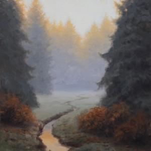"""Quiet Autumn Dawn"" 14x11, Oil, $1100"
