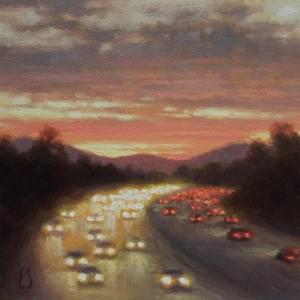 """River of Light"" - 6x6, Oil, $475"