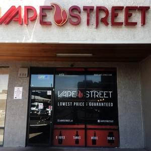 Vape Street storefront on Maryland Parkway.  Vape Street is a small business selling vape accessories that has several stores in Southern Nevada and California.  August 2, 2018, Las Vegas, NV.  Photo by Nissa Tzun
