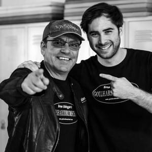 Daniel with Hena Habegger, drummer for Gotthard and founder of the school - Photo by Stefano W. Franchini