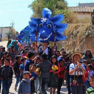 Parade with Kumatz, the water serpent.