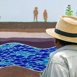 Mural-mosaic created in the Paquix community, municipality of San Bartolomé Jocotenango, department of Quiché.