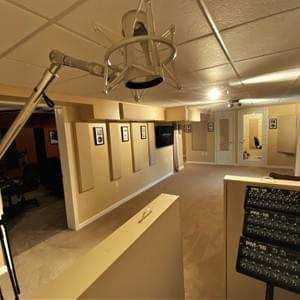 Métier Mastering's Live Room, south side view
