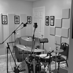 Métier Mastering's Drum / Acoustic Guitar room, west side view.