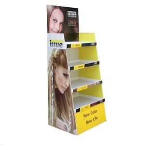 Custom cardbaord display stand for hair lotion
