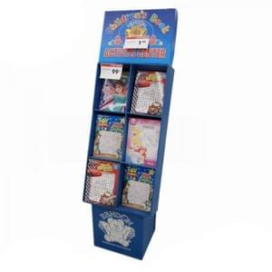 Corrugated power wing displays for kid's greeting cards