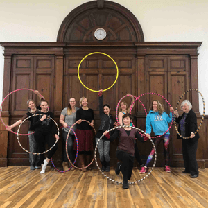 The Joy of Hooping handmade hoops as featured in Bloc Party's Octopus video.