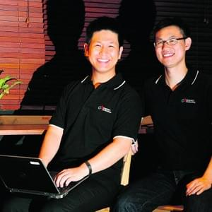 Conjunct Consulting cofounders Kwok Jia Chuan and myself