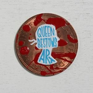 #pennydrops. Hand-painted pre-decimal pennies bearing a fake expansion of the QbA acronym.