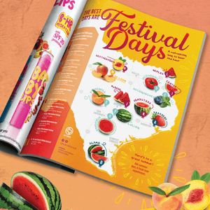 GoTexan ad to promote summer produce festivals - Designed at Creative Parc
