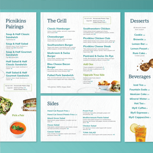 Picnickins Menu Installation Design (Designed at Creative Parc)