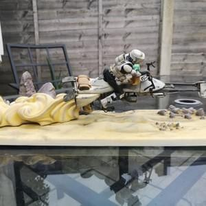 The Child - Speederbike Diorama