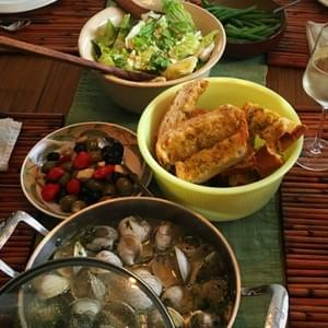 Seafood Dinner in Family Style Service