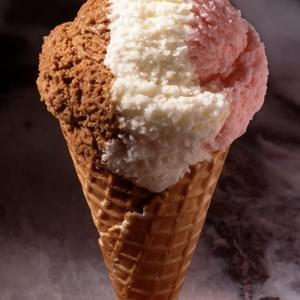 Styled Neopolitan Scoop - this will never melt!