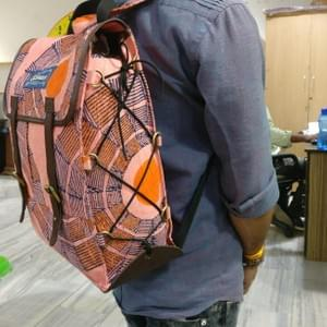 Block Printed Backpack