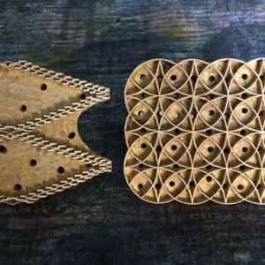 Hand Carved Wooden Printing Blocks
