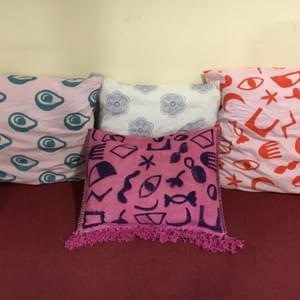 Hand Block Printed Pillows by Art&Co. Australia, Emma Cleine