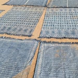 Indigo Dhurrie's Drying at Namdev Krishi Farm