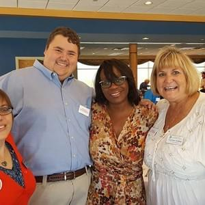 Caucus Members Krista Lohr and Peter Imhoff with Gretchen Lienhop at our Nina Turner Brunch