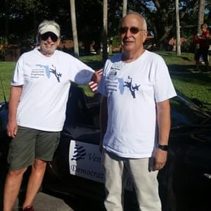 President Mike Shlasko and Treasurer Dick Stammer at Venice Sun Fiesta Parade