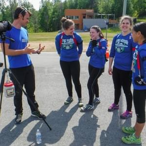US World Cup biathlete Zachary Hall has taught biathlon skills to many  Nome Nordic and WISA members.