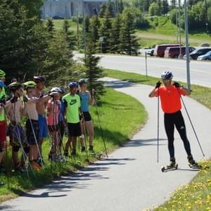 Nome Nordic biathletes attended a 2016 summer camp at Kincaid Park run by US Womens Olympic Coach Jonne Kahkonen.