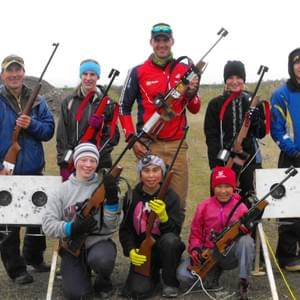 US World Junior biathlete Sam Dougherty conducted Nome Nordic's first summer camp at the Sunset Biathlon Range in 2013.