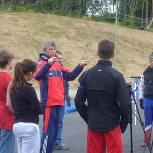 Algis Shalna, Russian National biathlete and 1984 Olympic  gold medalist, coached Nome Nordic and WISA athletes at a summer camp at Kincaid Park in 2009.