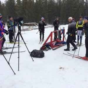 Olympic biathlete Rob Rosser, who runs Casper Biathlon, asked  Nome Nordic biathletes to train with his team during the 2016 West Yellowstone Ski Festival in Montana.