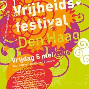Event style design for a cultural festival in the city of The Hague offering a diverse program of music, dance, spoken word and debate. The design was nominated for the Dutch Design Awards 2006.