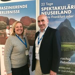 Linda Pampallis of Destination America & Georg Vollmer of AAT KIngs