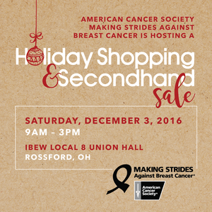 Holiday Shopping Flyer for Making Strides