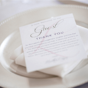 Wedding Thank You For Coming Cards