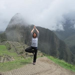 Tree pose at Macchu Piccu