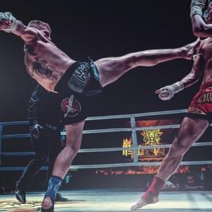 OUR FIGHTER KIM IN NO GLOVE MUAY THAI IN CHINA