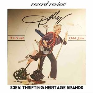 "Stephanie of @veni_vidi_thrift tells us the secrets of finding luxe hertigage brand for way way less and I review Dolly Parton's album ""9 to 5 and Other Jobs"""