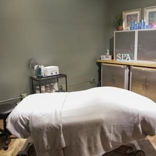 The skincare and room (where you can get electrolysis) at Tranquility Spa Salon in Brooklyn Park, MN,